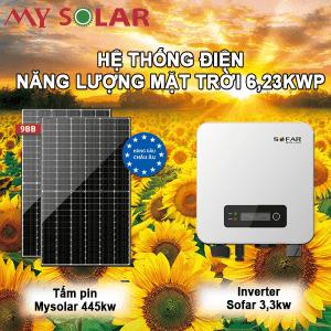 Hệ thống điện năng lượng mặt trời 6,23kwp