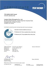 Chứng chỉ an toàn chất lượng tấm pin LeapTon 450W