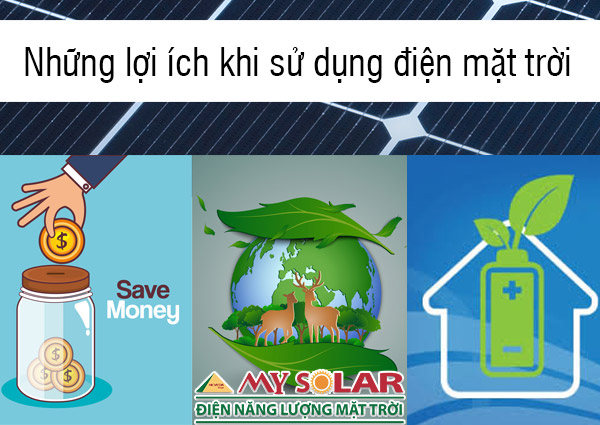 Lợi ích khi sử dụng hệ thống năng lượng mặt trời cho hộ gia đình