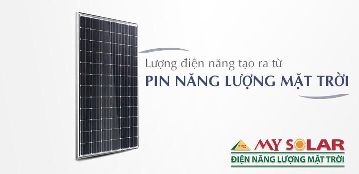 sản lượng điện tạo ra từ tấm pin năng lượng mặt trời