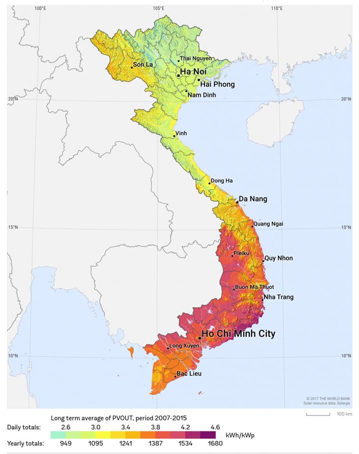 Miền Nam Việt Nam sản xuất lượng điện mặt trời cao nhất