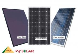 So sánh 2 tấm pin năng lượng mặt trời Mono và Poly