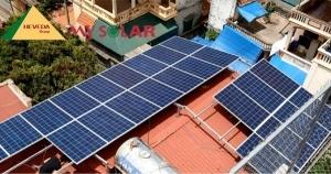 pin năng lượng mặt trời áp mái